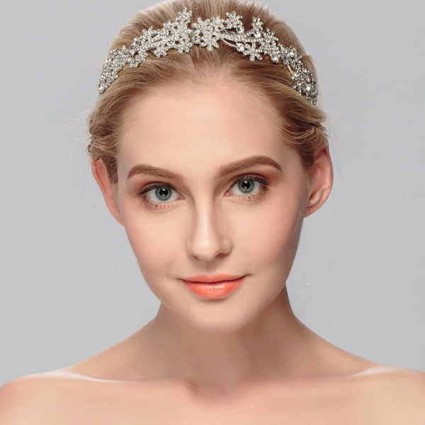 Floral European Diamante Hair Accessories (Wedding)