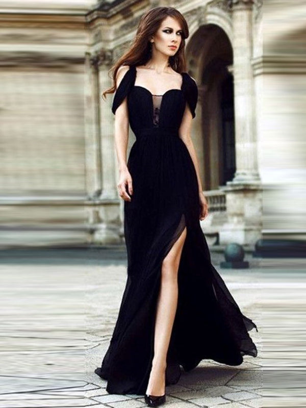 Split Long Sleeve Floor-Length Party/Cocktail A-Line Dress
