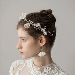 Korean Hairband Floral Hair Accessories (Wedding)