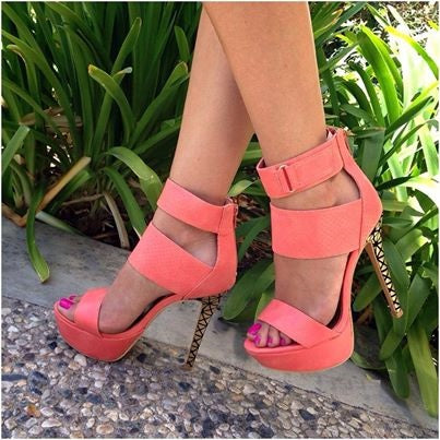 Peep Toe Slip-On Casual Platform Sandals