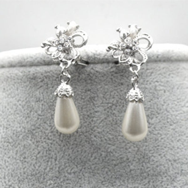 Diamante Korean Floral Jewelry Sets (Wedding)