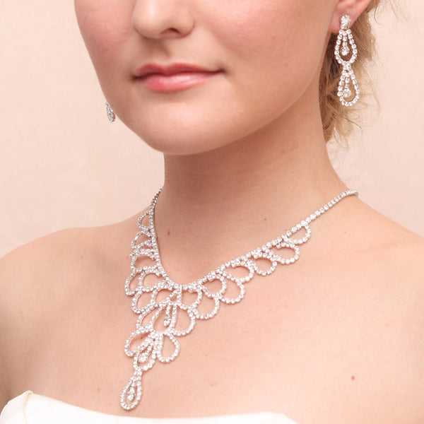 European Necklace Diamante Anniversary Jewelry Sets