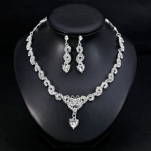 Gemmed Necklace European Jewelry Sets (Wedding)
