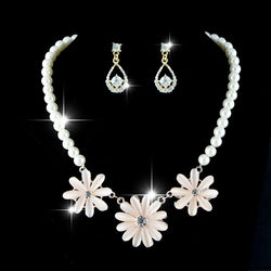 Necklace Pearl Inlaid Wedding Jewelry Sets