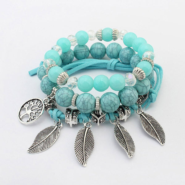 European Leaf Female Bracelets