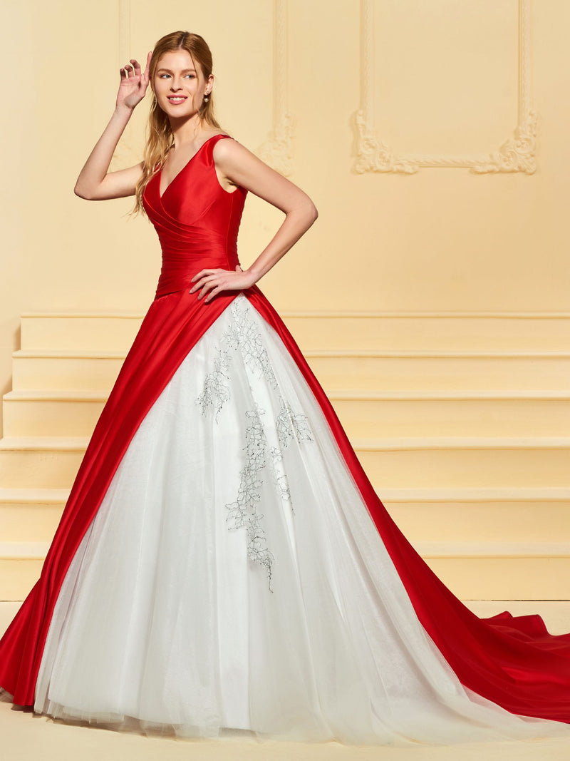 Ball Gown Lace Floor-Length Sleeveless Garden/Outdoor Wedding Dress