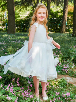 Ball Gown Scoop Sleeveless Winter Flower Girl Dress