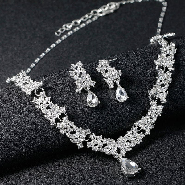 European Earrings Floral Jewelry Sets (Wedding)