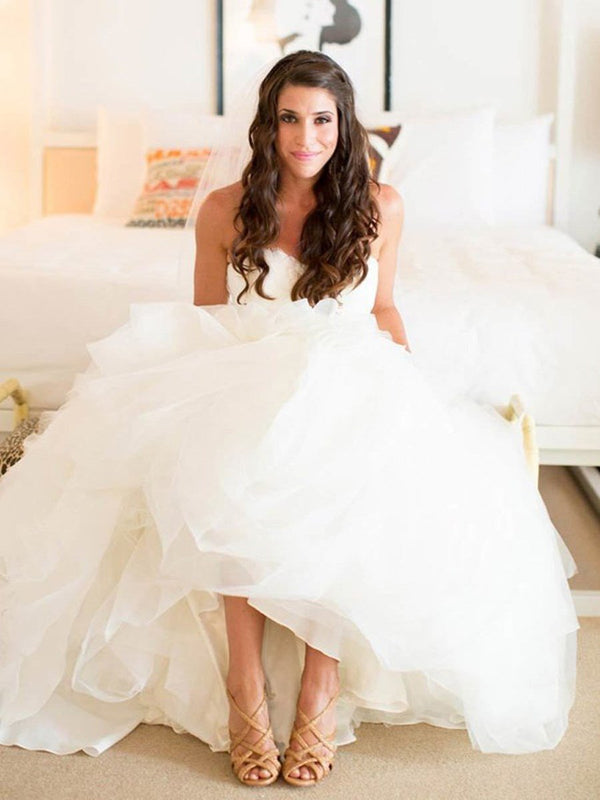 Sleeveless Sweetheart Ball Gown Floor-Length Hall Wedding Dress