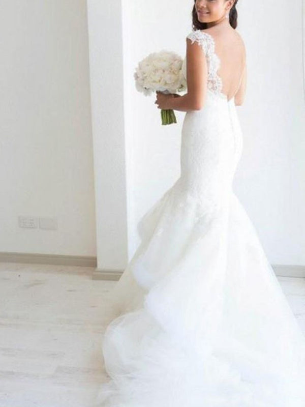 Sleeveless Floor-Length Court Straps Church Wedding Dress