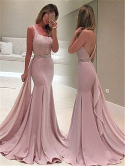 Trumpet/Mermaid One Shoulder Sleeveless Floor-Length Prom Dress