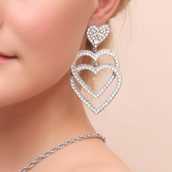 Earrings European Diamante Engagement Jewelry Sets