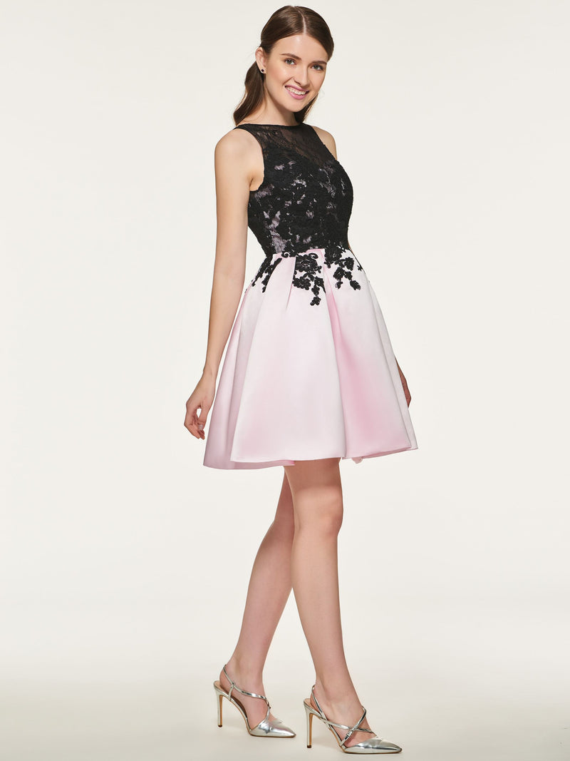 Bateau Sleeveless Short/Mini A-Line Wedding Party Dress