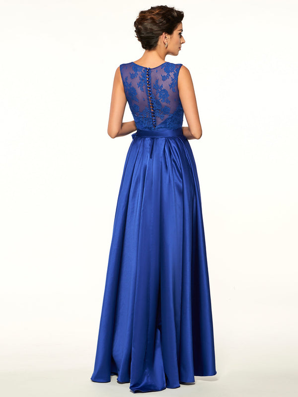 Sleeveless Jewel Sashes/Ribbons Asymmetry Evening Dress