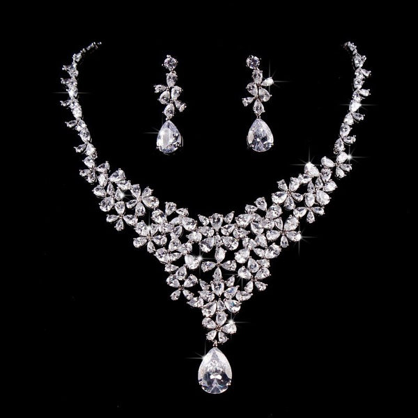 Necklace Floral European Jewelry Sets (Wedding)