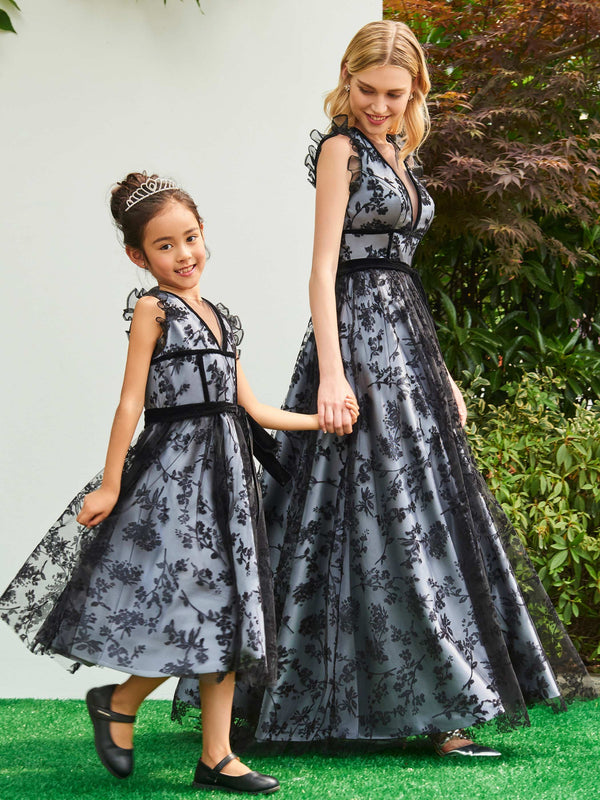 Jewel Summer Sleeveless Lace Flower Girl Dress