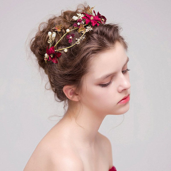 Hairband Korean Floral Hair Accessories (Wedding)