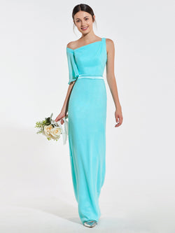 Floor-Length Sheath/Column Square Wedding Party Dress