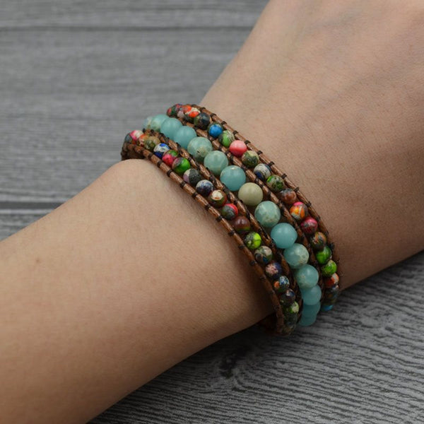 Ethnic Color Block Woven Unisex Bracelets