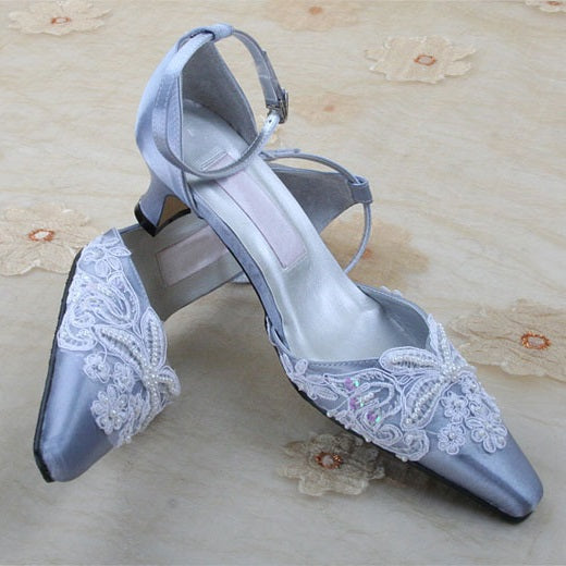 Lace Slip-On Pointed Toe Plain 5cm Thin Shoes