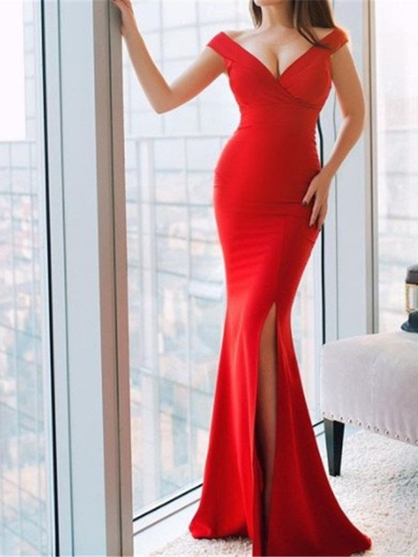 Trumpet/Mermaid Split-Front Floor-Length Evening Dress