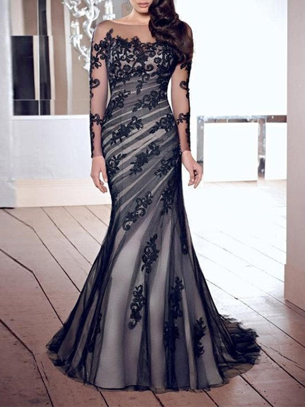 Round Neck Patchwork Floor-Length Floral Zipper Dress