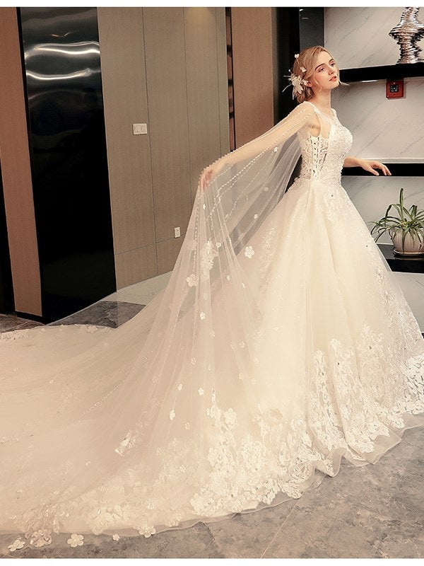 Off-The-Shoulder Sheath/Column Floor-Length Hall Wedding Dress