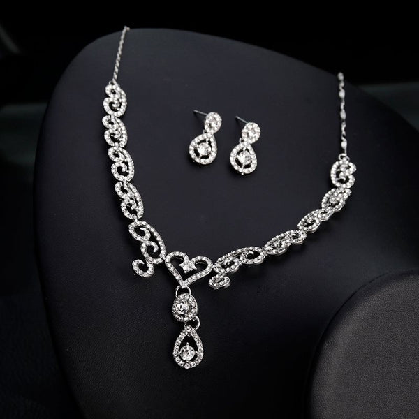 European Gemmed Floral Jewelry Sets (Wedding)