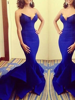 Strapless Sleeveless Trumpet/Mermaid Floor-Length Evening Dress