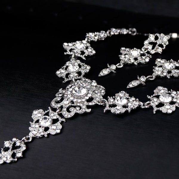 Necklace Gemmed European Jewelry Sets (Wedding)