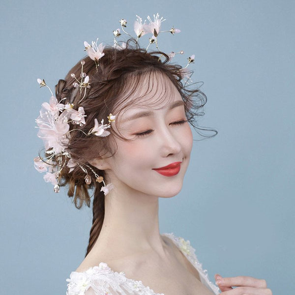 Floral Hairpin Korean Hair Accessories (Wedding)