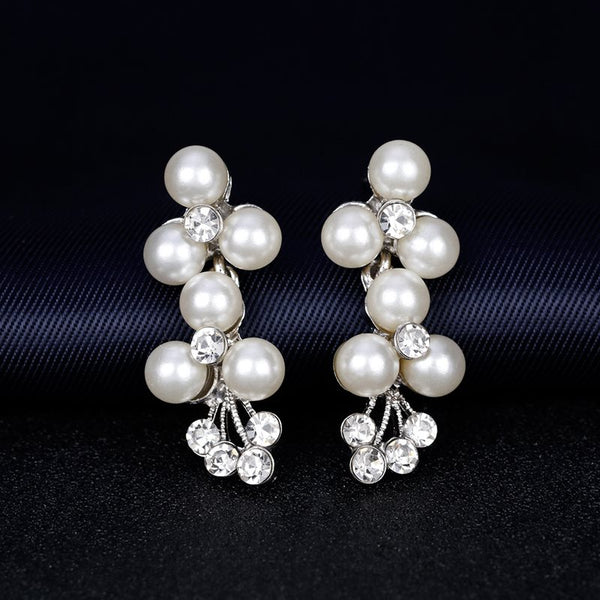 Floral Earrings European Jewelry Sets (Wedding)