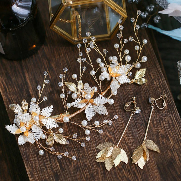 E-Plating Floral Head Flower Hair Accessories (Wedding)