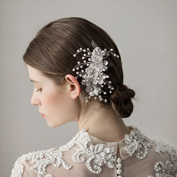 Vintage Leaf Hair Comb Hair Accessories (Wedding)