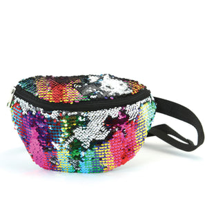 Mermaid Style Sequinned Fanny Pack - boribags