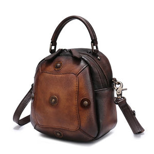 Leather Bucket Bag - boribags