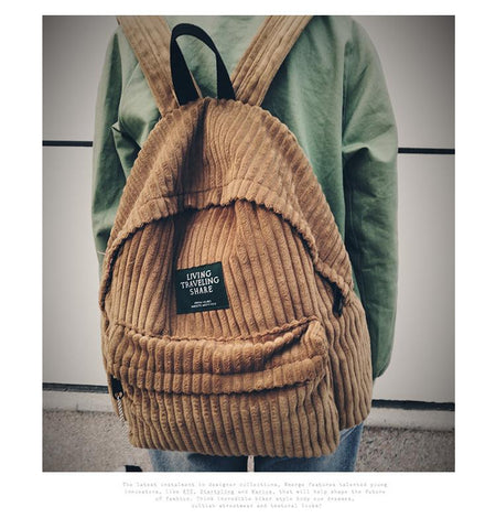 Retro Corduroy Backpack - boribags