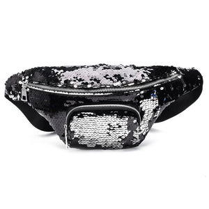 Sequin Zipper Fanny Pack - boribags