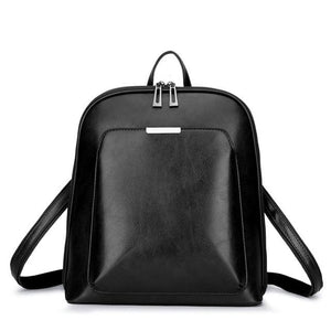 Shiny Leather Backpack - boribags