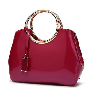 Shiny Leather CrossBody Bag - boribags
