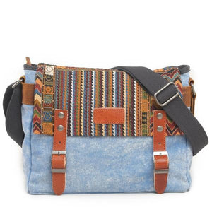 Vintage Ethnic Canvas Messenger Bag - boribags