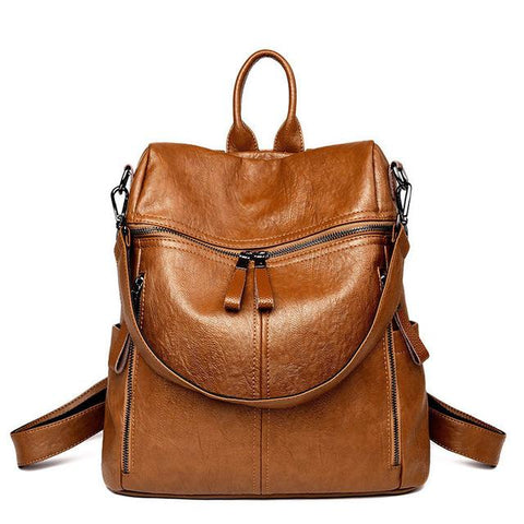 Vintage Leather Backpack - boribags