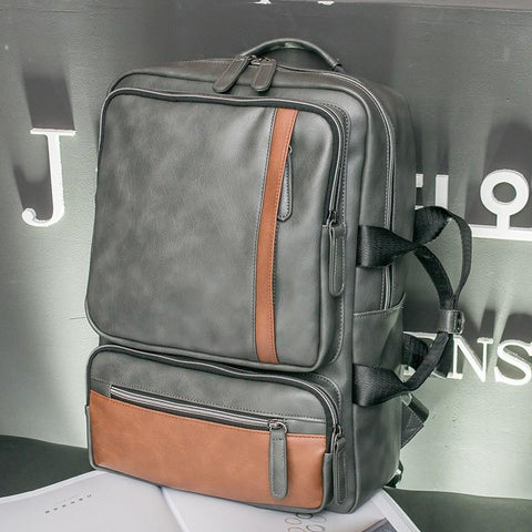 Vintage Leather Backpack/Briefcase - boribags