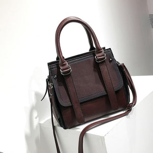 Vintage Leather Satchel Bag - boribags