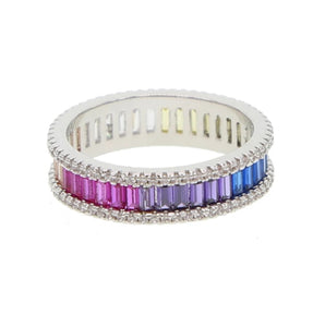 REBEKAH SILVER MULT-COLOR RING