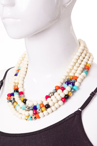 JENNIFER MULTI-COLOR STRAND NECKLACE