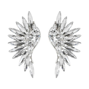 SANAAH RHINESTONE WING CLIP ON EARRINGS