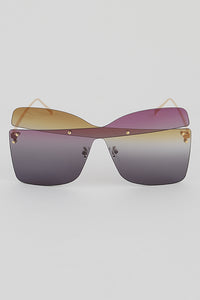 UNIQUE COLOR BLOCK SUNGLASSES