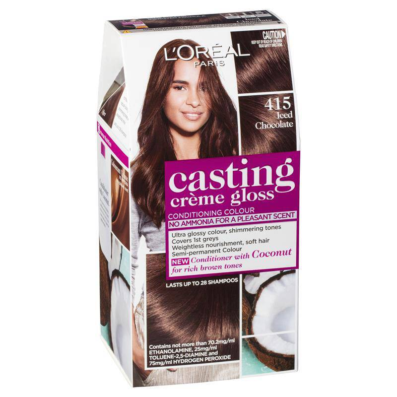 L'oreal Casting Creme Gloss Semi-Permanent Hair Color - Iced Chocolate 415 - Healthxpress.ie