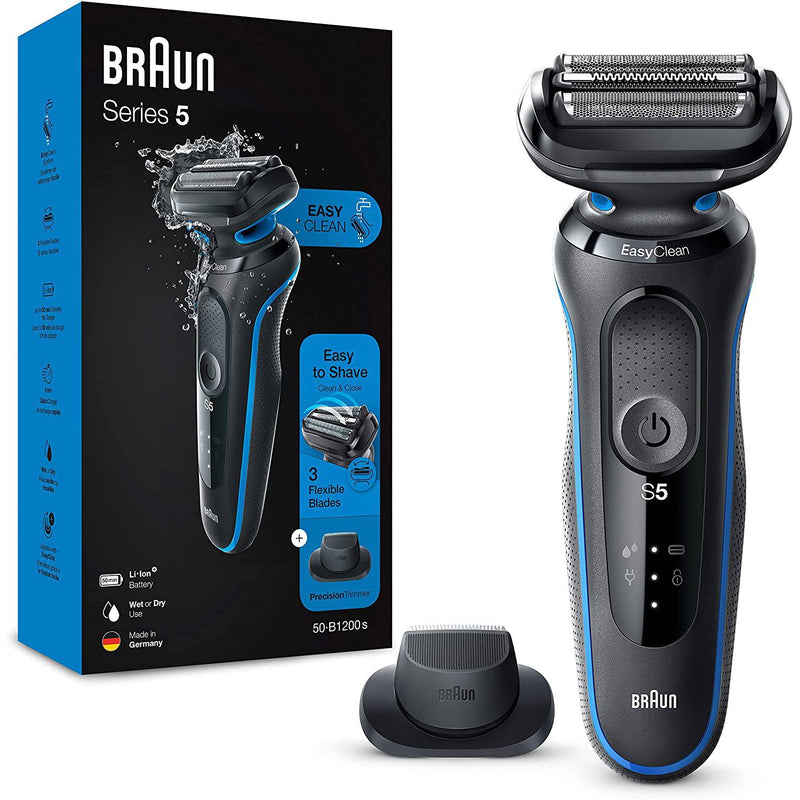 Braun Men's Series 5 50-B1200s Wet and Dry Shaver w/ Precision Trimmer - Blue - Healthxpress.ie